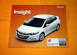 Honda Insight 2009 Prospekt Brochure Depliant Catalog Broschyr Folder Prospetto