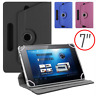 "360° Universal Tablet Case Leather Folio Stand Cover Google Samsung Asus 7"" In"