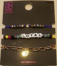 "No Boundaries ""Loyal"" Multi Bracelets, Set of 3"