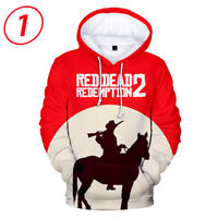 Red Dead Redemption 2 Fashion 3D Pullover Hoodies Winter Clothes Coat Adult Kids