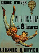 ADVERTISING EXHIBITION CIRCUS CIRQUE D'HIVER ACROBAT BALLOON FRANCE POSTER LV772
