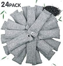 24 Pack Natural Bamboo Charcoal Air Purifying Bag Odor Absorber for Home and Car