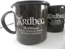 New 2 Mug Set Ardbeg Scotland Scotch Whiskey Celtic Enamel Metal Cup
