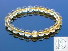 Citrine Natural Gemstone Bracelet 6-9'' Elasticated Healing Stone Chakra Reiki