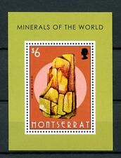 Montserrat 2013 MNH Minerals of World 1v S/S Rocks Orpiment Stamps