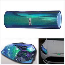 200cmX30cm coloridas Azul Oscuro Coche Luces Antiniebla Autos Película Hoja De Pegatinas De Vinilo Tinte