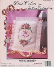 Victorian Monogram Karen Bowdish Ribbon Embroidery Counted Cross Stitch KIT