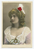 c 1907 Glamour Glamor BEAUTIFUL YOUNG LADY Edwardian theater photo postcard