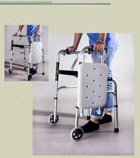 D08 Foldable Rollator Walking Frame Outdoor Indoor Mobility Walker Aids Crutch M