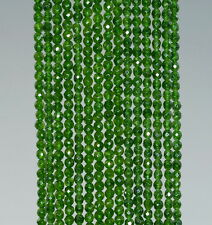 """2MM AVOCADO GREEN JADE GEMSTONE GREEN FACETED ROUND LOOSE BEADS 15"""""""