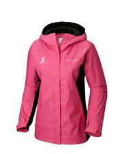 Medium Womens Columbia Tested Tough In Pink II Omni-Tech Waterproof Rain Jacket