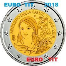 2 €  ITALIE   COMMEMORATIVE   2018  1  X  PIECE    MINISTERE DE LA SANTE    2018