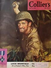1943 Original Vintage Colliers Cover Navy PVT. James E. Sands C.C. Beall Art