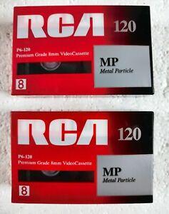 2 RCA Metal Particle MP 120 Premium Grade 8mm Video Cassette - Rare