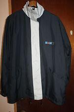 Mobil One Gas Station Men's Gray Jacket Windbreaker Size XL