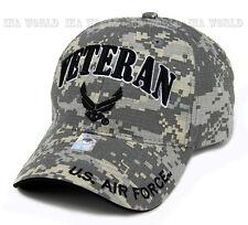 U.S. AIR FORCE hat VETERAN USAF Logo Military Licensed Baseball cap- Digi Camo