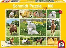 Baby Farm Animals: Children's Schmidt Jigsaw Puzzle 100 pieces 56194 Ages 6+