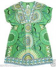 NEXT - VGC BEAUTIFUL GREEN PATTERNED DRESS LONG TOP - Sz 8