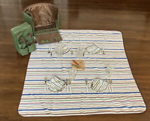 Picnic Time Large Montecito Picnic Tote For Four w/ Blanket