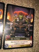 World of Warcraft Azeroth WoW TCG : WARCHIEF THRALL Extended Art EPIC #267 x3