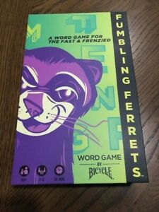 NEW! Fumbling Ferrets: A Word Game For The Fast & Frenzied By Bicycle Party 10+