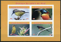 Chad 2019 MNH Asian Sunbirds of Asia 4v IMPF M/S Sunbird Birds Stamps