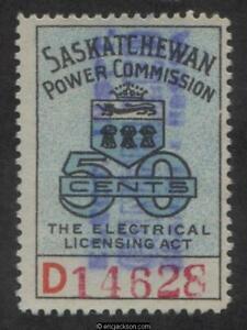 Saskatchewan Electrical Stamp, SE21 used, F-VF