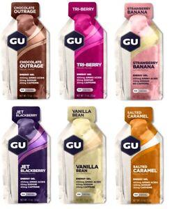GU Energy Gel Variety Sample Pack   6 Flavors   12 Count