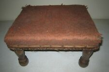Vintage Antique Wooden Foot Stool Hand Crafted
