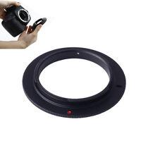 Universal 52mm Mount Lens to Nikon F Camera Macro Reverse Adapter Ring  Black