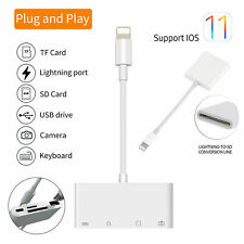 Apple Lightning To USB Camera Adapter Cable 4 in 1 SD TF Card Reader OTG iPhone