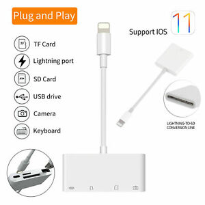 Lightning to SD TF Card Reader Camera Adapter USB for iPhone 12/11/8/7/X/6 iPad