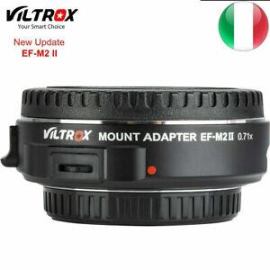 EF-M2 Viltrox SPEEDBOOSTER 0.71x AdattatoreII Canon M43 MFT EF Lens Adapter
