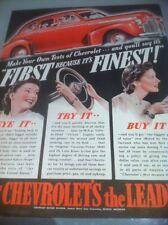 1941 Chevrolet Special Deluxe Sport Sedan ORIGINAL AD - Great Garage Decor
