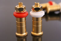 One Pair Pure copper plated gold Amplifier terminal amp Speaker terminals   L3-1
