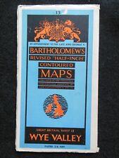 VINTAGE Bartholomew Mappa del Wye Valley-c1952-mezzo pollice Mappa cartacea, N. 13
