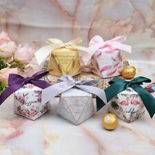 Diamond Shape Wedding Favor Candy Box Gift Bags Packing Boxes Party Supplies