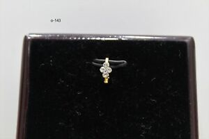 INDIAN Nose Ring gold pated Stick On Clip On Tribal Indian Jewellery