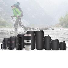 DSLR Camera Soft Lens Covers Pouch Protector Padded Bag Case Set4PCS  S/M/L/XL