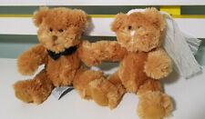 RUSS BERRIE WEDDING TEDDY BEARS BRIDE AND GROOM 30CM LONG 14CM TALL!