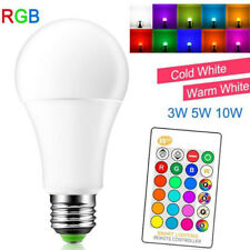 E27 10W RGB Light LED Lamp Bulb + Wireless Remote Control 16 Color Changing