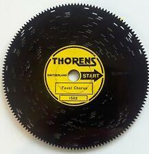 Vintage Music Box Disc 1522 Faust Chorus Thorens 4.5� Swiss Ad30