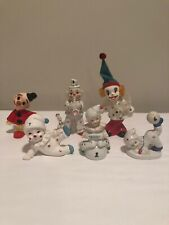 6 Vintage Circus Clown Figurines