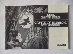 48329 Instruction Booklet - Castle Of Illusion - Sega Game Gear () 672-0450-50