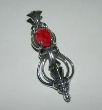 Carolyn Pollack Red Coral Doublet Sterling Silver Pendant Enhancer