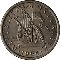 1964 World Coin Portugal 5 Escudos KM 591 Great Deals From The Executive Coin Co
