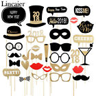 32pcs 2018 Happy New Year Photo Booth Props Eve Party Decorations Supplies
