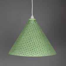 mid century modern metal lamp pendant rocket light large size apple green