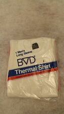 VTG 1983 BVD Thermal Underwear Shirt/Top Long Johns NOS sz SM 50/50 cotton/poly