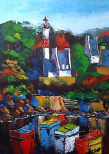 Doëlan Bretagne Finistère JP DOUCHEZ Tableau Peinture huile sur toile au couteau